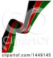 Clipart Graphic Of A Diagonal Kenyan Ribbon Flag On White Royalty Free Vector Illustration by Domenico Condello