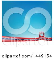 Clipart Graphic Of A Thai Ribbon Flag Border Between White And Blue Royalty Free Vector Illustration by Domenico Condello