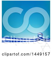 Clipart Graphic Of A Blue And White Israel Ribbon Flag Border Between White And Blue Royalty Free Vector Illustration by Domenico Condello