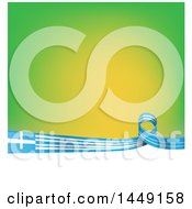 Clipart Graphic Of A Greek Ribbon Flag Border Between Green And White Royalty Free Vector Illustration by Domenico Condello