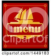 Clipart Graphic Of A Red Black And Gold Ship Menu Design Royalty Free Vector Illustration by Domenico Condello