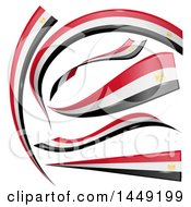 Clipart Graphic Of Egyptian Ribbon Flag Design Elements Royalty Free Vector Illustration by Domenico Condello