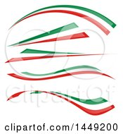 Clipart Graphic Of Italian Ribbon Flag Design Elements Royalty Free Vector Illustration by Domenico Condello