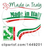 Clipart Graphic Of Italian Made In Italy Design Elements Royalty Free Vector Illustration by Domenico Condello