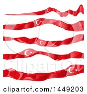 Clipart Graphic Of Turkish Ribbon Flag Design Elements Royalty Free Vector Illustration by Domenico Condello