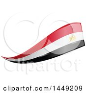 Clipart Graphic Of An Egyptian Ribbon Flag Design Element Royalty Free Vector Illustration