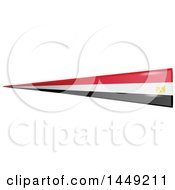Clipart Graphic Of An Egyptian Ribbon Flag Design Element Royalty Free Vector Illustration by Domenico Condello