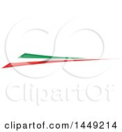 Clipart Graphic Of An Italian Ribbon Flag Design Element Royalty Free Vector Illustration by Domenico Condello