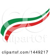 Clipart Graphic Of An Italian Ribbon Flag Design Element Royalty Free Vector Illustration