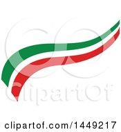 Clipart Graphic Of An Italian Ribbon Flag Design Element Royalty Free Vector Illustration by Domenico Condello