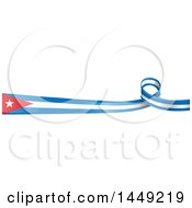 Clipart Graphic Of A Cuban Ribbon Flag Border Design Element Royalty Free Vector Illustration by Domenico Condello