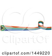 Clipart Graphic Of A South African Ribbon Flag Border Design Element Royalty Free Vector Illustration by Domenico Condello