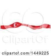 Clipart Graphic Of A Turkish Ribbon Flag Design Element Royalty Free Vector Illustration by Domenico Condello