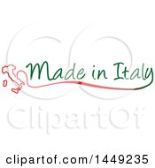 Clipart Graphic Of An Italian Map And Made In Italy Design Element Royalty Free Vector Illustration