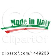 Clipart Graphic Of An Italian Ribbon Flag Made In Italy Design Element Royalty Free Vector Illustration