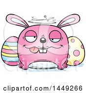 Cartoon Drunk Easter Bunny Character Mascot