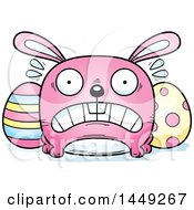 Cartoon Scared Easter Bunny Character Mascot