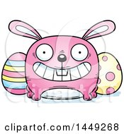 Clipart Graphic Of A Cartoon Grinning Easter Bunny Character Mascot Royalty Free Vector Illustration