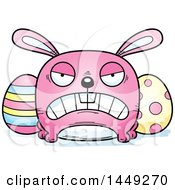 Clipart Graphic Of A Cartoon Mad Easter Bunny Character Mascot Royalty Free Vector Illustration