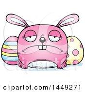 Cartoon Sad Easter Bunny Character Mascot