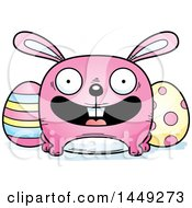 Clipart Graphic Of A Cartoon Happy Easter Bunny Character Mascot Royalty Free Vector Illustration by Cory Thoman