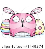 Cartoon Surprised Easter Bunny Character Mascot