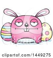 Cartoon Bored Easter Bunny Character Mascot