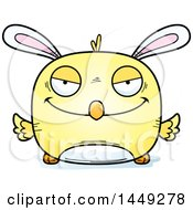 Clipart Graphic Of A Cartoon Sly Easter Bunny Chick Character Mascot Royalty Free Vector Illustration by Cory Thoman