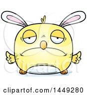 Poster, Art Print Of Cartoon Sad Easter Bunny Chick Character Mascot