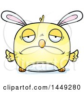Clipart Graphic Of A Cartoon Sad Easter Bunny Chick Character Mascot Royalty Free Vector Illustration by Cory Thoman