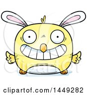 Poster, Art Print Of Cartoon Grinning Easter Bunny Chick Character Mascot