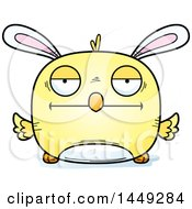 Clipart Graphic Of A Cartoon Bored Easter Bunny Chick Character Mascot Royalty Free Vector Illustration by Cory Thoman