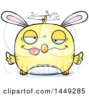 Clipart Graphic Of A Cartoon Drunk Easter Bunny Chick Character Mascot Royalty Free Vector Illustration by Cory Thoman
