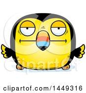 Cartoon Bored Toucan Bird Character Mascot