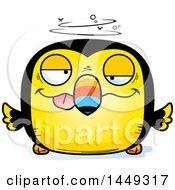 Cartoon Drunk Toucan Bird Character Mascot