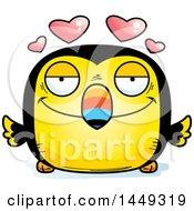 Cartoon Loving Toucan Bird Character Mascot
