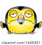 Cartoon Sad Toucan Bird Character Mascot