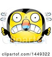Cartoon Scared Toucan Bird Character Mascot