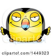 Cartoon Sly Toucan Bird Character Mascot