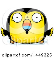 Clipart Graphic Of A Cartoon Surprised Toucan Bird Character Mascot Royalty Free Vector Illustration