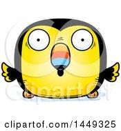 Cartoon Surprised Toucan Bird Character Mascot