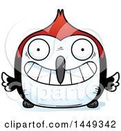 Poster, Art Print Of Cartoon Grinning Woodpecker Character Mascot