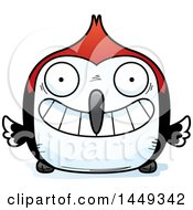 Clipart Graphic Of A Cartoon Grinning Woodpecker Character Mascot Royalty Free Vector Illustration by Cory Thoman