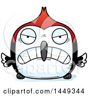Clipart Graphic Of A Cartoon Mad Woodpecker Character Mascot Royalty Free Vector Illustration by Cory Thoman