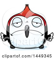Clipart Graphic Of A Cartoon Sad Woodpecker Character Mascot Royalty Free Vector Illustration by Cory Thoman