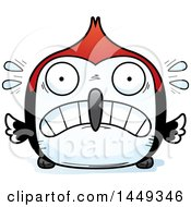 Clipart Graphic Of A Cartoon Scared Woodpecker Character Mascot Royalty Free Vector Illustration by Cory Thoman