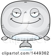Clipart Graphic Of A Cartoon Evil Whale Character Mascot Royalty Free Vector Illustration