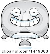Clipart Graphic Of A Cartoon Grinning Whale Character Mascot Royalty Free Vector Illustration