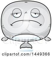 Clipart Graphic Of A Cartoon Sad Whale Character Mascot Royalty Free Vector Illustration
