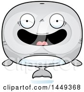 Clipart Graphic Of A Cartoon Happy Whale Character Mascot Royalty Free Vector Illustration